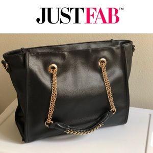 Super Roomy! Shoulder Bag Black/Gold 25